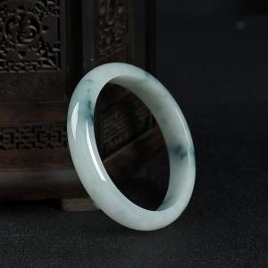 56.5mm糯种飘花翡翠手镯