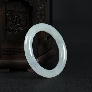 58.5mm糯冰種翡翠圓鐲