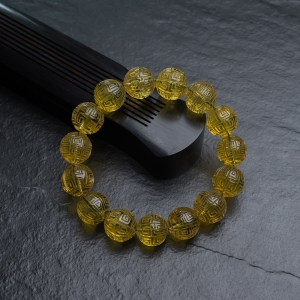 16.5mm墨西哥藍珀回紋珠單圈手串