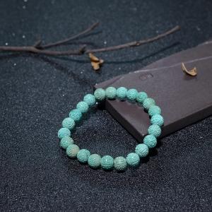 7.5mm中高瓷蓝绿绿松石回纹珠单圈手串