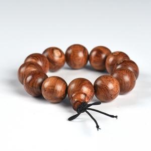 19.1mm蜘蛛紋黃花梨單圈手串
