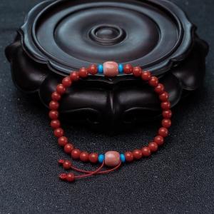5.5mm沙丁朱红珊瑚手链
