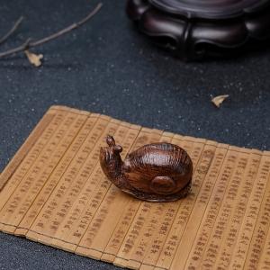 海南黄花梨蜗牛摆件