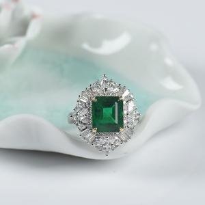 18K祖母綠戒指