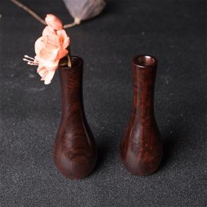 小叶紫檀净瓶摆件(两件)
