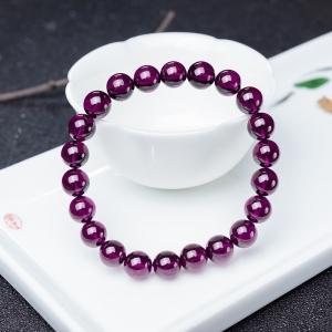 8.5mm紫色石榴石单圈手串