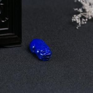 深蓝色青金石貔貅吊坠