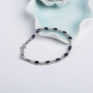 18K皇家藍藍寶石刻面手鏈