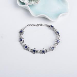 18K皇家蓝蓝宝石刻面手链
