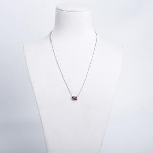 18K橙红色蓝宝石项链