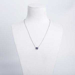 18K紫色藍寶石項鏈