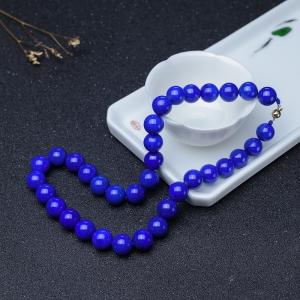 12.3mm天蓝色青金石项链