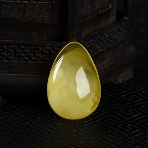 柠檬黄金绞蜜随形吊坠