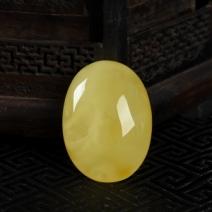 柠檬黄金绞蜜蛋面吊坠