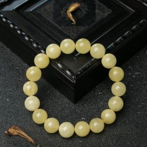 11mm柠檬黄蜜蜡单圈手串