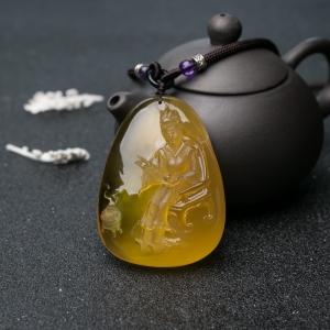 元春——鸡油黄金绞蜜吊坠
