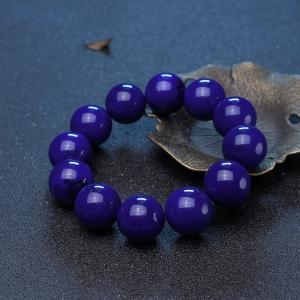 19.8mm紫蓝色青金石单圈手串