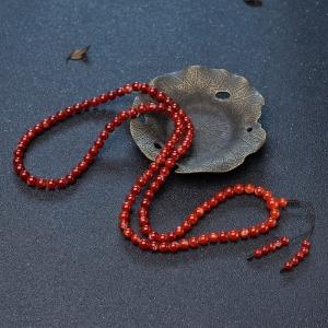 6mm阿卡牛血紅珊瑚108佛珠