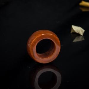 火焰纹南红戒指