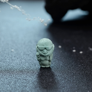 高瓷蓝绿绿松石小猴三通