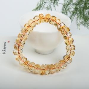 黄水晶随形单圈手串