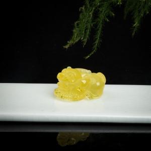 淺黃金絞蜜貔貅吊墜
