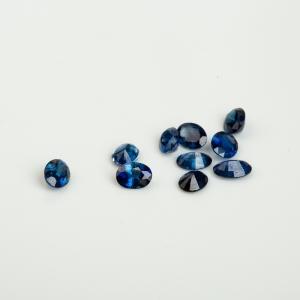 蓝色蓝宝石刻面戒面