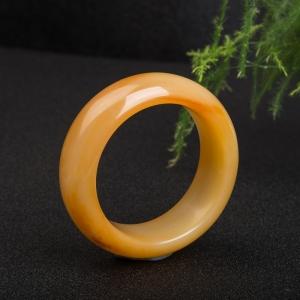 57.5mm山料橙黄黄龙玉手镯