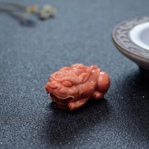 MOMO珊瑚貔貅吊坠