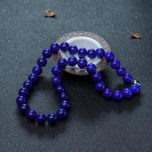 12.5mm深蓝色青金石项链