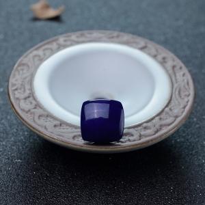 紫蓝色青金石方形戒面