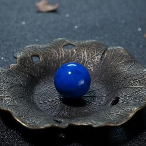 20.5mm天蓝色青金石圆珠