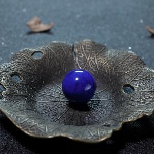 18.2mm深蓝色青金石圆珠