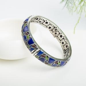 57mm银镶紫蓝色青金石手镯