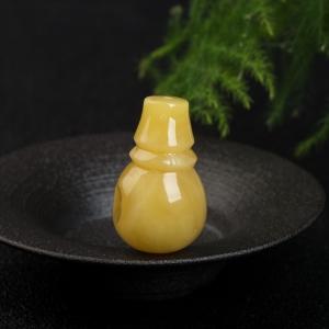 鸡油黄蜜蜡三通