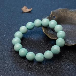 12mm中高瓷蓝绿绿松石单圈手串