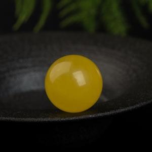 19.7mm鸡油黄蜜蜡圆珠