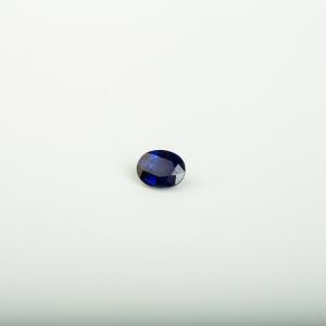 皇家蓝蓝宝石刻面椭圆戒面