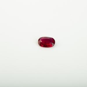 红宝石刻面椭圆戒面