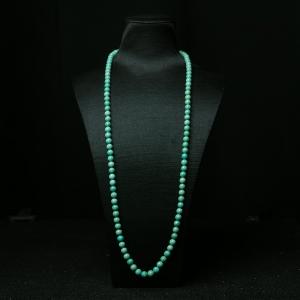 7.5mm高瓷铁线蓝绿绿松石108佛珠