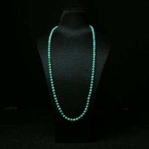6.5mm高瓷铁线蓝绿绿松石长链