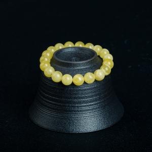 10.1mm柠檬黄蜜蜡单圈手串