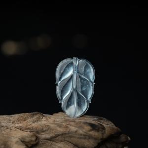 玻璃种翡翠大业有成吊坠