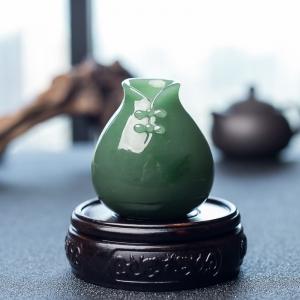 山料和田碧玉花瓶摆件