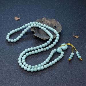 8.3mm中高瓷浅蓝绿松石108佛珠