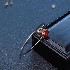 56.5mm阿卡牛血红珊瑚手镯