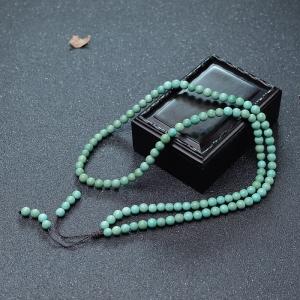 6mm中高瓷铁线蓝绿绿松石108佛珠
