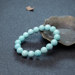 10.3mm中高瓷蓝绿松石单圈手串