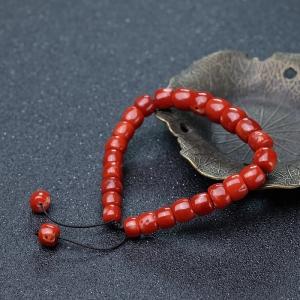 阿卡珊瑚桶珠手链