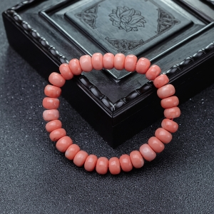 MOMO珊瑚算盘珠单圈手串